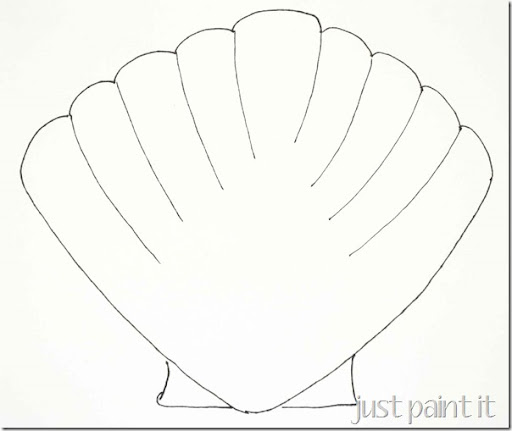 Seashell and Starfish Pattern Printables - Just Paint It Blog