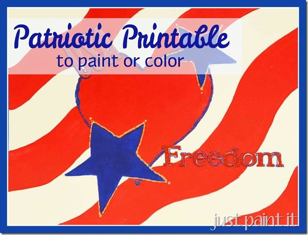 Patriotic Printable to Paint or Color