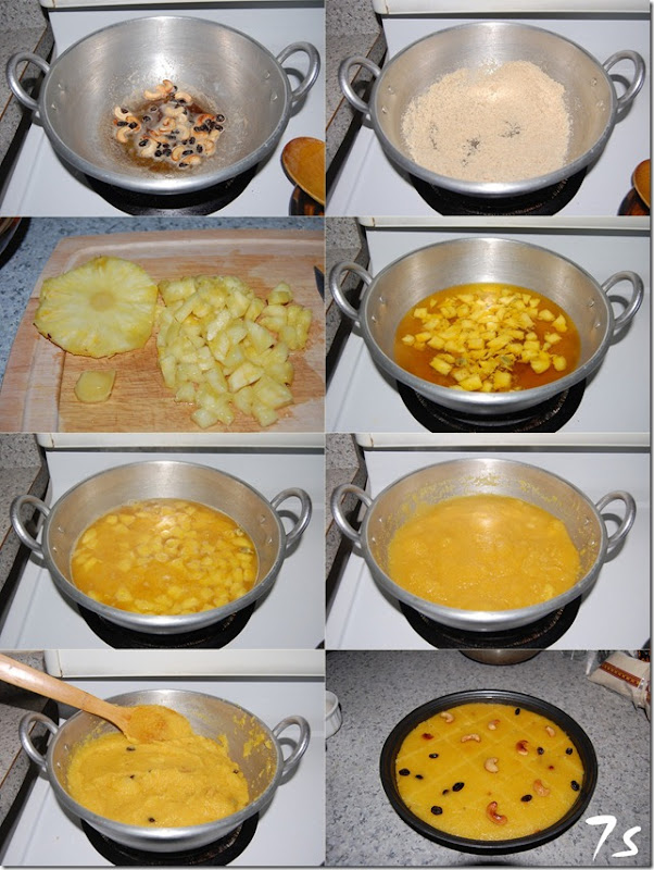 Pineapple kesari process