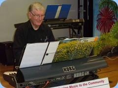 Gordon Sutherland playing his Korg Pa3X. Photo courtesy of Peter Littlejohn.