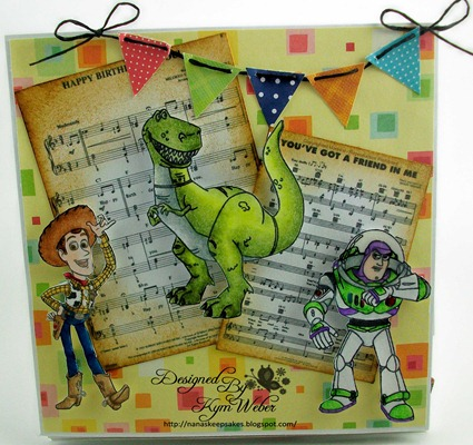 Triple Easel Birthday Card