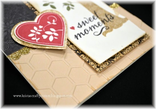 Sept 2014 SOTM_Family Is Forever card_CU_honeycomb embossing