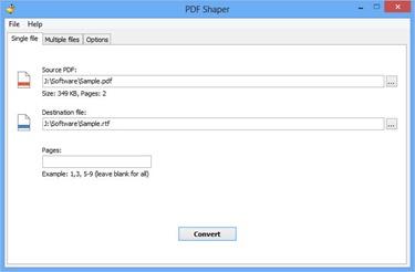 Free PDF to Word RTF Converter