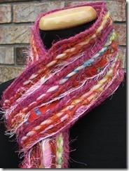 pink multicolor scarf