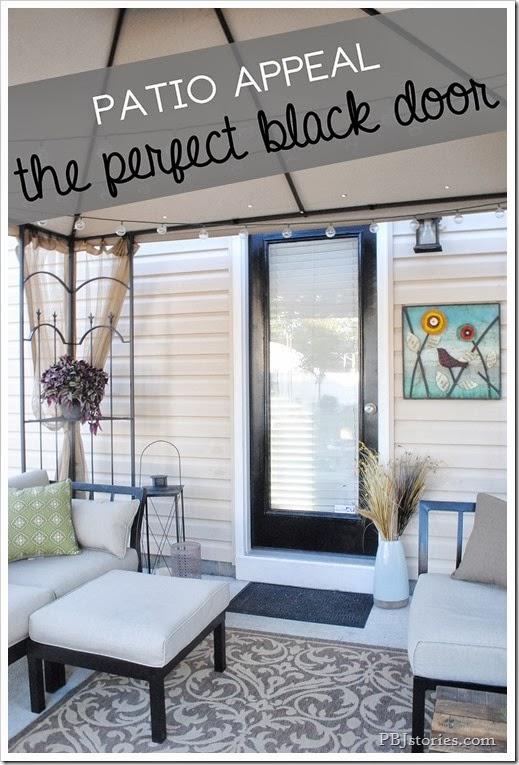 exterior black door