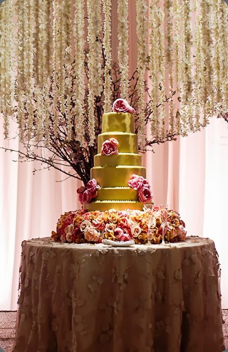 cake southern-wedding-gold-cake bella flora dallas and  F8 Studio