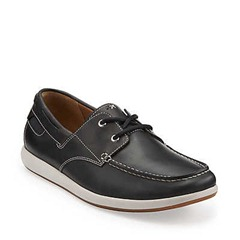 clarks navy leather