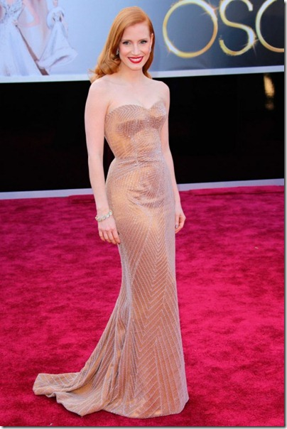 2013 Oscar's Best Beauty Hits... And Some Misses~Jessica  Chastain