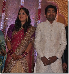 Mirchi Shiva - Priya Wedding Reception Photos