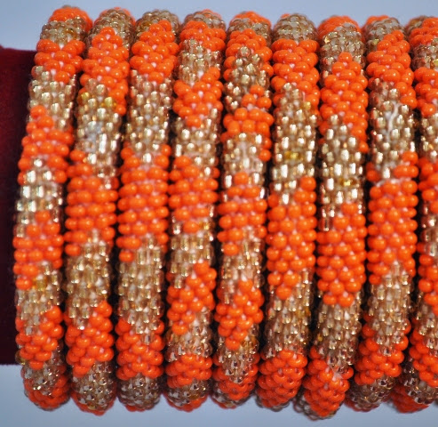 Rollover Gold Over-series Bead Bracelset