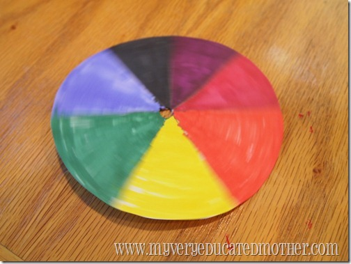 www.myveryeducatedmother.com Spinning Color Wheel