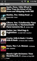 Screenshot of Readerware (Music)