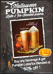 The Coffee Bean & Tea Leaf Halloween Promotion 2013 Malaysia Deals Offer Shopping EverydayOnSales