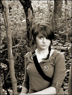 Jordan as Katniss 76 BW cropped