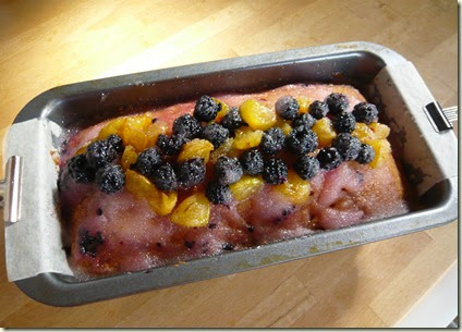 plum and blackberry drizzle cake3