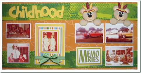 cricut bear indian boy layout idea 500