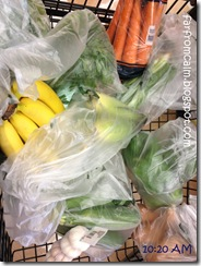 My shopping cart of produce