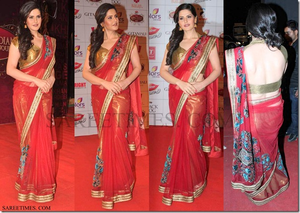 Zarine_Khan_Saree
