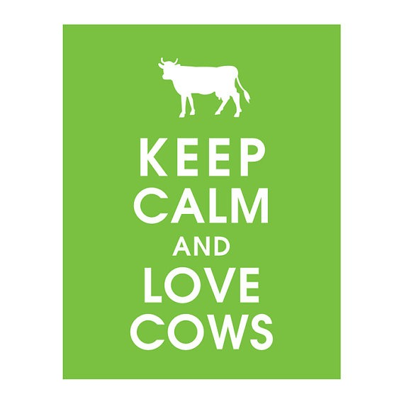 keep calm and love cows via keepcalm shop