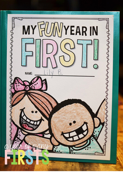 Memory Book Cover Ideas : A year of many firsts end memory book