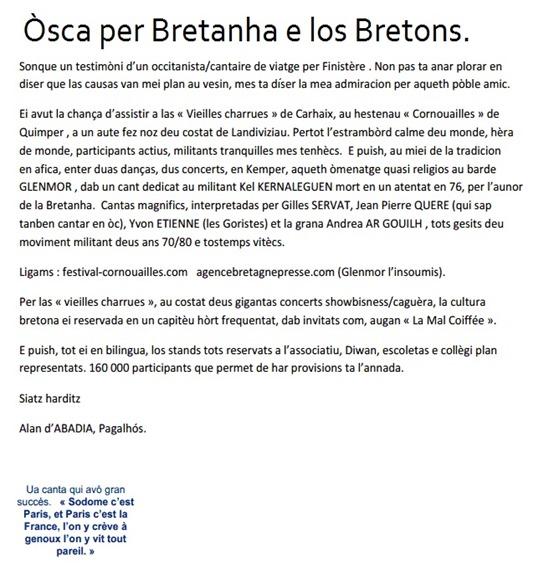 Òsca a la Bretanha e als Bretons