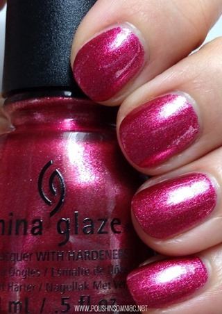 China Glaze Santa Red My List