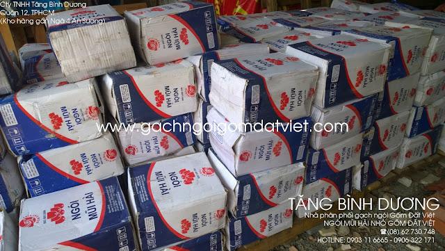 Ngói mũi hài nhỏ 150 Gốm Đất Việt mới nhập thêm tại kho Tăng Bình Dương