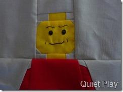 Lego block face