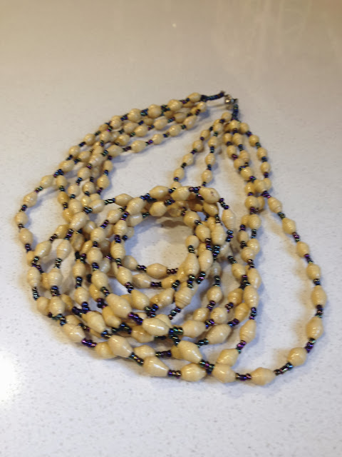 SUZANNE: 5-Strand Paper Necklace