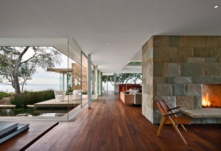 Residencia contempor nea carpinteria foothills en santa - Planos de casas con patio interior ...