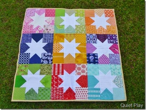 Rainbow Stars quilt