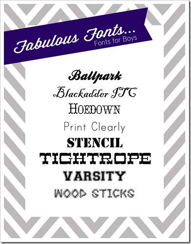 fabulous fonts volume 3 fonts for boys