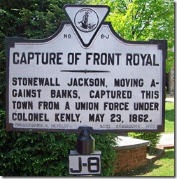 Capture Of Front Royal marker J-8 in Front Royal, VA
