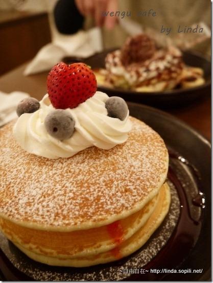 溫古咖啡-草莓甜心塔煎餅2
