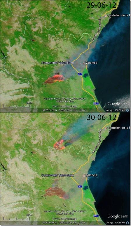 Comparación imagen MODIS