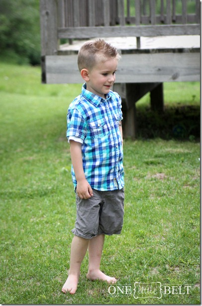 little-boy-blue-plaid-top-shorts