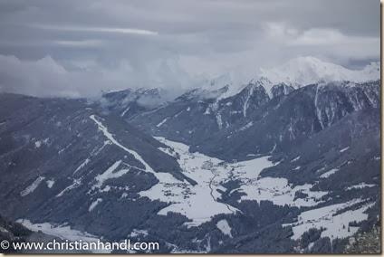 Blick von der Bergstation Schigebiet Sillian nach Kartitsch im Lesachtal