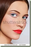 stock-photo-close-up-portrait-of-young-beautiful-woman-with-stylish-white-eyeliner-and-coral-matte-lipstick-131772008