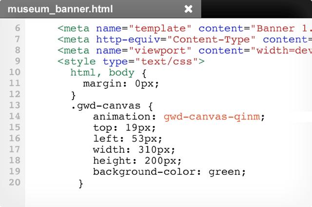 Web designer code