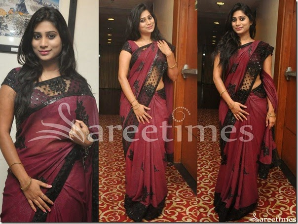 Mithuna_Waliya_Purple_Saree