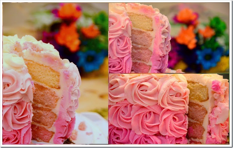 Rose Ombre Cake 4