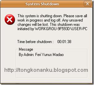 Shutdown Komputer Secara Otomatis
