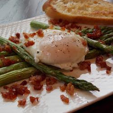 Roast Asparagus With Prosciutto And Poached Egg