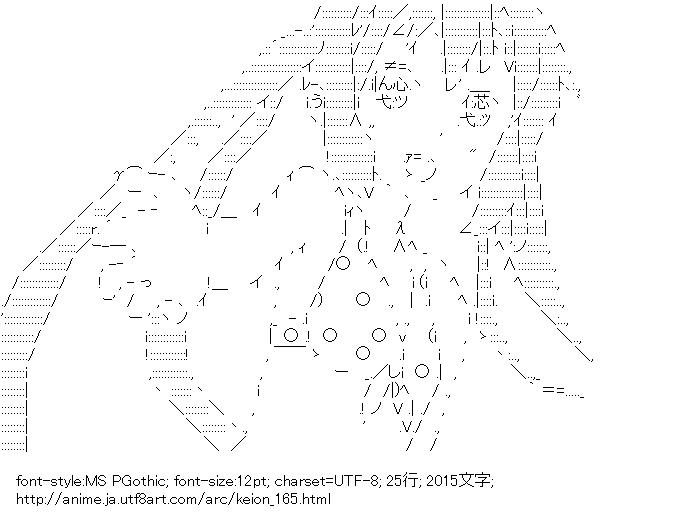 けいおん!,中野梓,水着