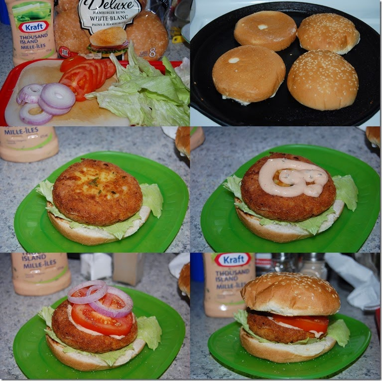 Paneer corn burger process 2