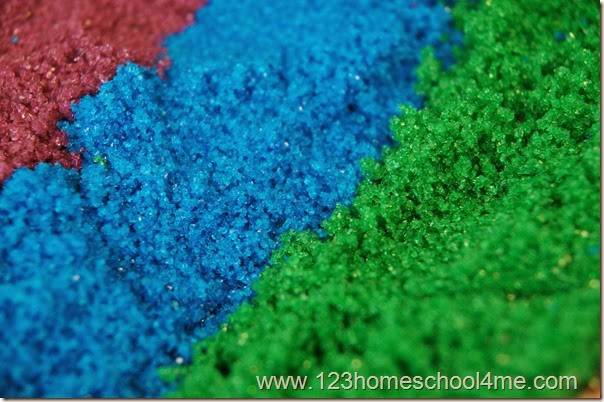 Homemade Sand has the texture of fine sand at a fraction of the cost!