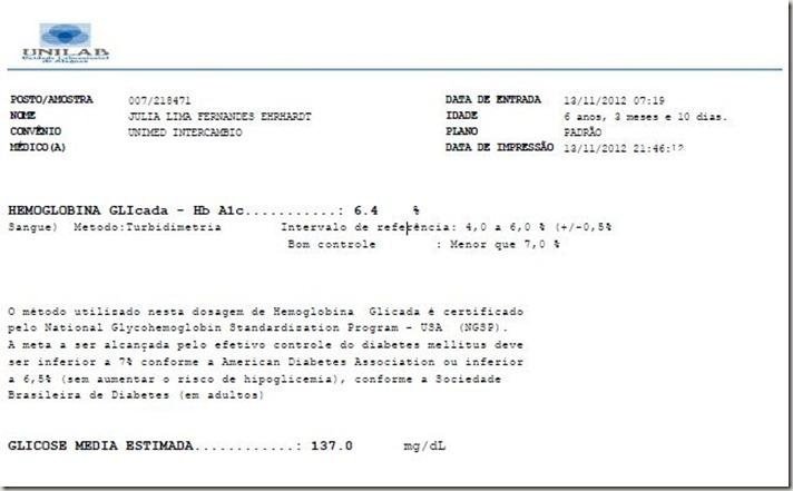 Hemoglobina Glicada Jujuba nov 2012