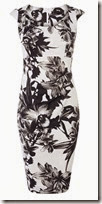 Karen Millen Monochrome Floral Dress