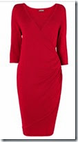 Phase Eight Red Wrap Knit Dress