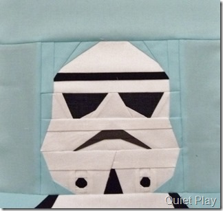 Paper pieced LEGO Storm Trooper